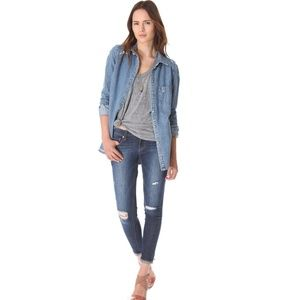 Paige Verdugo Skinny Distressed Jeans 29""